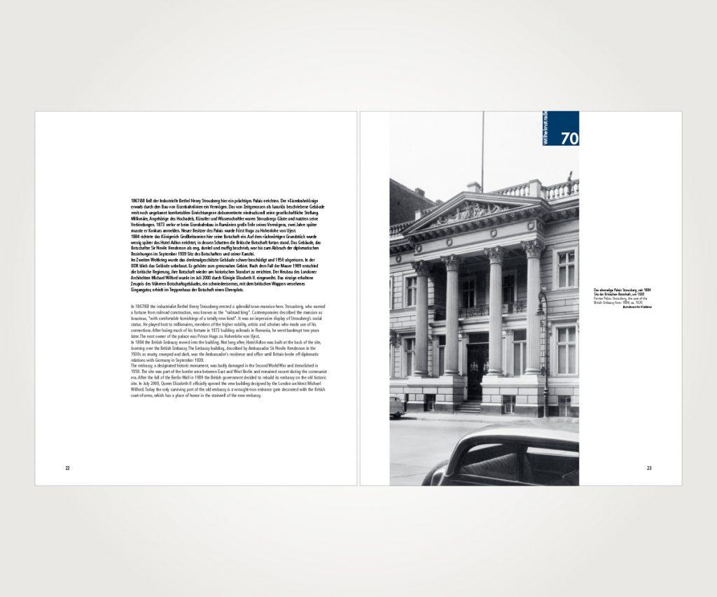Buchsatz »Die Wilhelmstraße – Regierungsviertel im Wandel«