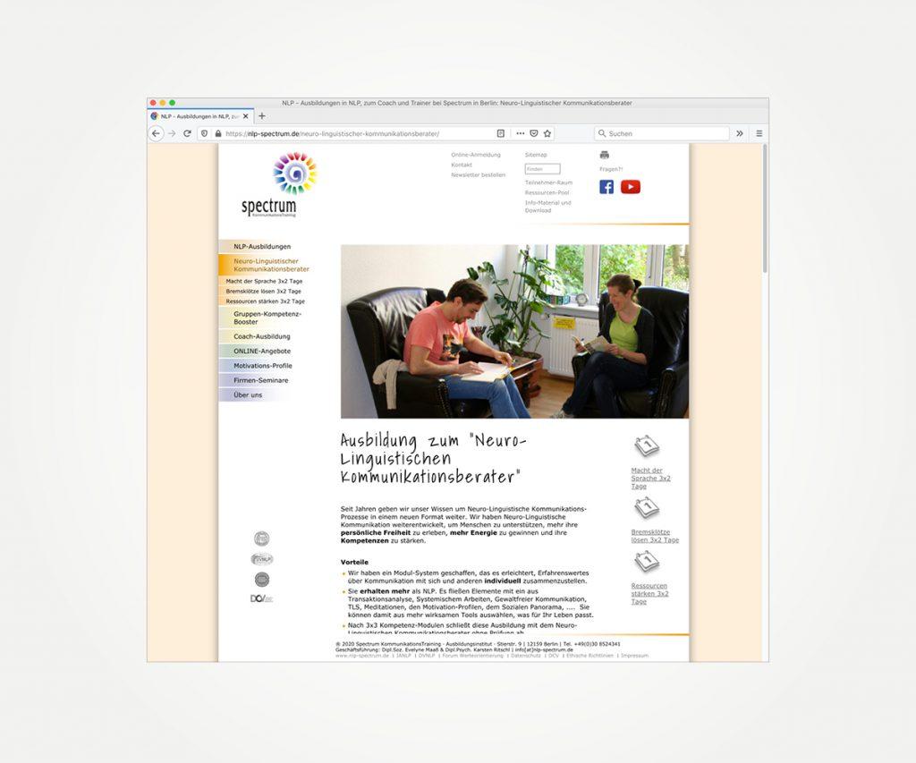 Website »www.nlp-spectrum.de«