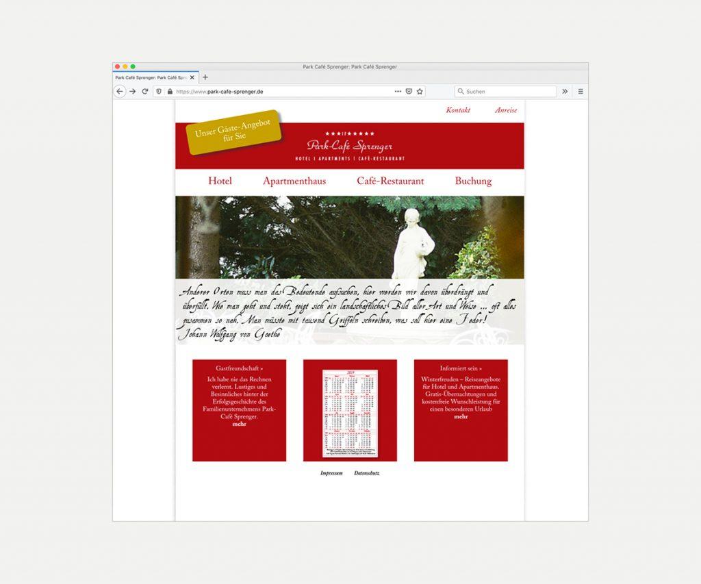Website »www.park-cafe-sprenger.de«