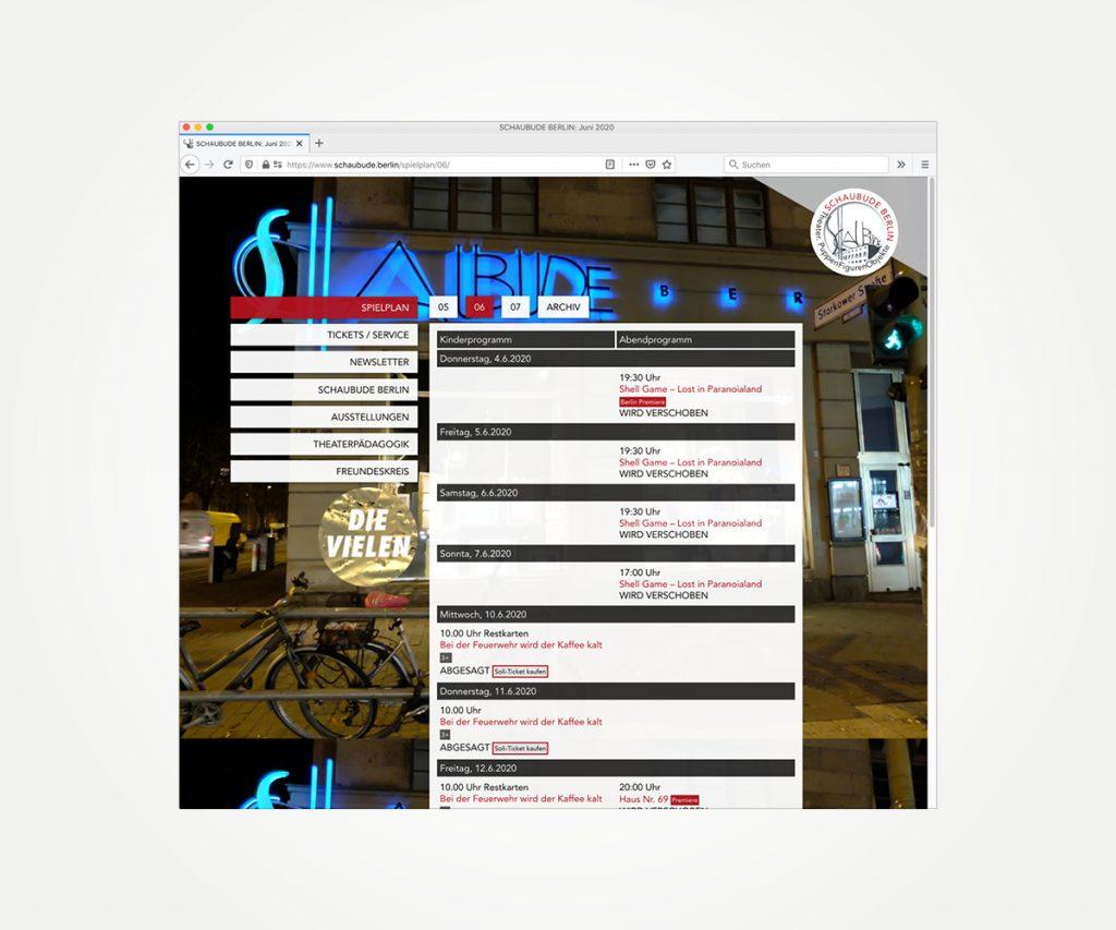 Website »www.schaubude.berlin«